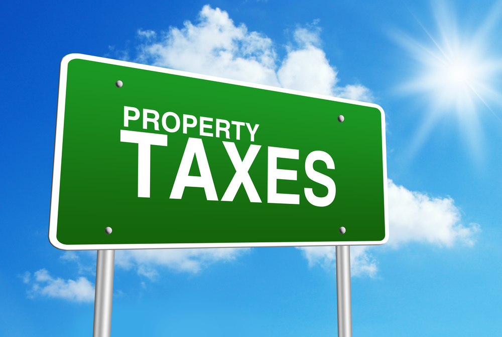 late on property taxes
